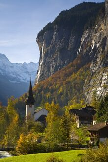 Lauterbrunnen Church, Berner Oberland, Switzerland