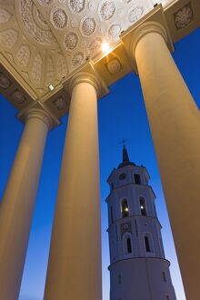 Lithuania, Vilnius, Cathedral and Belfry Tower