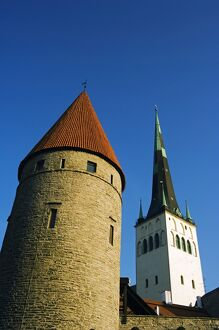 Lower Town City Wall Towers and St Olav Church