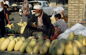 Melon seller at the main market