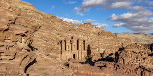 new april 2019 b/monastery ad deir elevated view petra maan