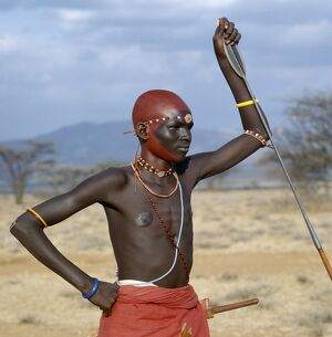A month after a Samburu youth has been circumcised