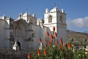Peru, An attractive C18th church dominates the main square of Yanque, a small rural village in the Colca