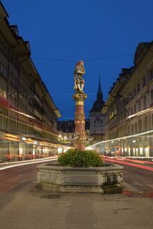 Pfeifferbrunnengasse fountain, Bern, Berner Oberland, Switzerland