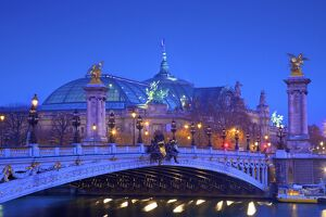 The Pont Alexandre III and Grand Palais, Paris, France, Western Europe