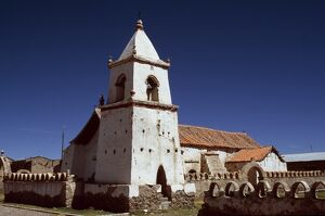 The pretty Andean church at the village of Isluga