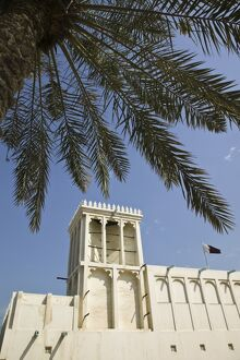 Qatar, Doha, Heritage House Museum, Traditional Badgir (Wind Tower)