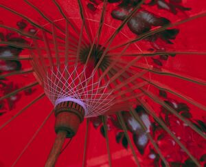 Red Umbrella, Chiang Mai, Northern Thailand
