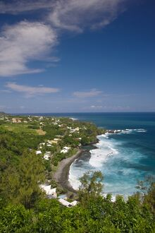 Reunion Island, South Reunion, Manapany-les-Bains seaside town