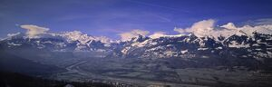 Rhine Valley from Liechtenstein