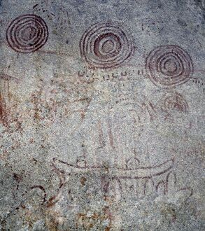 The rock paintings at Nyero in southeast Uganda are