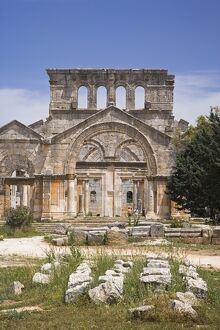 The ruins of the Basilica of St Simeon Stylites the