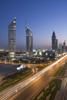 Sheikh Zayad Road & the Emirates Towers, Dubai, United Arab Emirates