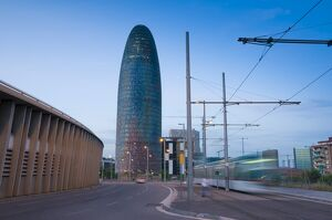 Spain, Barcelona, Torre Agbar (Agbar Tower)