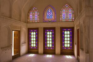 The stained glass windows of traditional house
