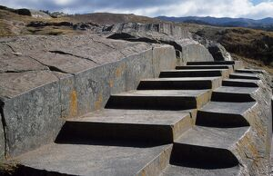 Stone steps carved by Inca craftsmen