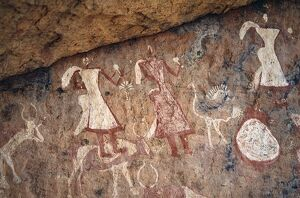 Superb rock painting in the Jebel Acacus in the Libyan