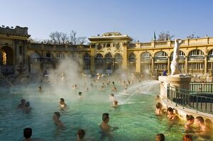 Szechenyi Bath House thermal hot pool