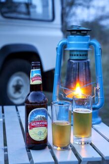 "Tanzania, Serengeti. ""It's Kili time!"" - Chilled Kilimanjaro beer"