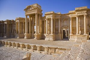 The theatre in the spectacular ruined city of Palmyra, Syria