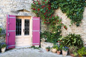 Traditional architecture in Aigne village, Languedoc-Roussillon, France