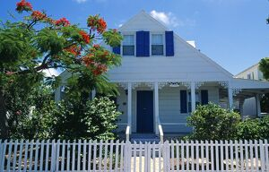 Traditional clapboard house in Harbour Island