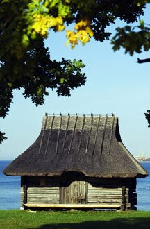 A Traditional Thatched Roof Farm House