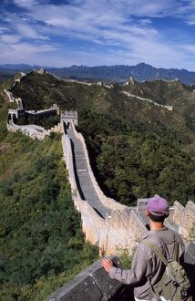 Trekker on The Great Wall of China