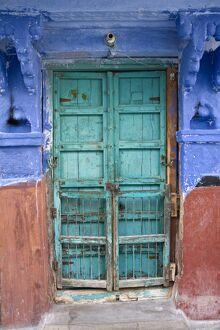 Typical Blue Architecture, Jodhpur, Rajasthan, India