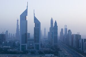 UAE, Dubai, Sheik Zayed Road Area, Emirates Towers