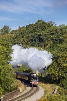 United Kingdom, England, North Yorkshire, Goathland. The Peppercorn Class A1 steam train