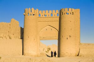 Uzbekistan, Bukhara, Shaybanid City walls, Recronstructed gate