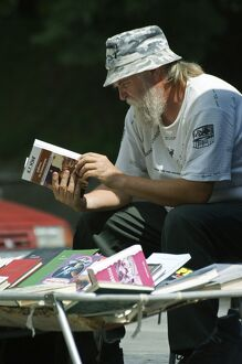 Vendor at Book Market
