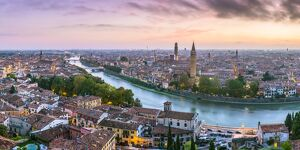 verona veneto italy high angle panoramic view