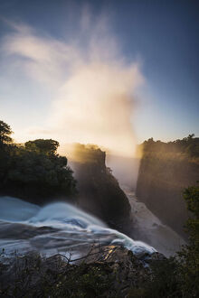 new/20191004 awl 2/victoria falls depicted sunrise devils cataract