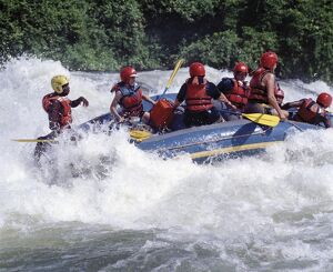 White-Water rafting can be arranged on the Victoria