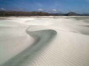The Zaheg Dunes near the southern shores of Socotra Island