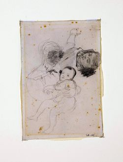 Mother Nursing Her Child, by Richard Parkes Bonington, [1822]