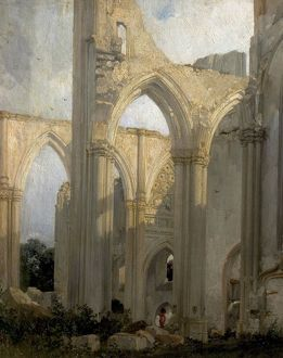 Ruins of the Abbey St. Bertain, St. Omer, France (Trancept of the Abbey of St. Bertin, St