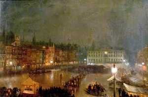 Torchlight Tattoo of Robin Hood Rifles, Nottingham Market Place - Claude Thomas Stanfield