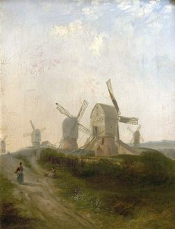 Windmills on Nottingham Forest - Henry Smyth