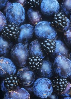 Damsons and blackberries