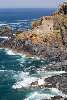 The Famous Crown tin mine at Bottallack in Cornwall, UK