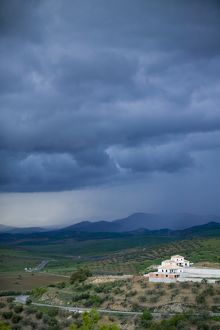 A storm approaching the sierra nevada mountains in spain