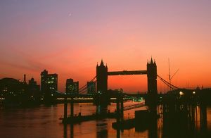 Tower Bridge at sunset in london UK