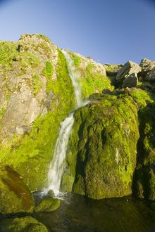 A waterfall in Stanah Gill on the Helvellyn Range Lake District UK