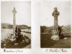 Album page showing crosses on Iona. Titled: 'Maclean's Cross'