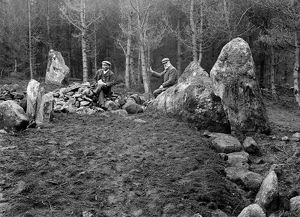Fred Coles (R) and A Macdonald (L), Recumbent Stone Circle, Garrol (The Nine Stanes)