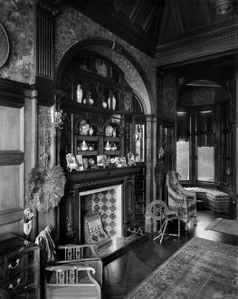 View of the boudoir, Gallowhill House, Paisley. Date: 1890