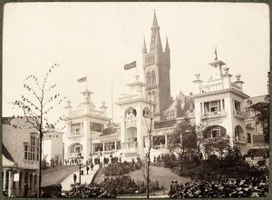View of buildings at the 1901 International Exhibition in Kelvingrove Park
